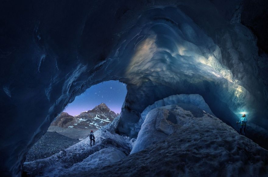 Athabasca Cave By Juan Pablo De Miguel (Honorable Mention In Fragile Ice Category)