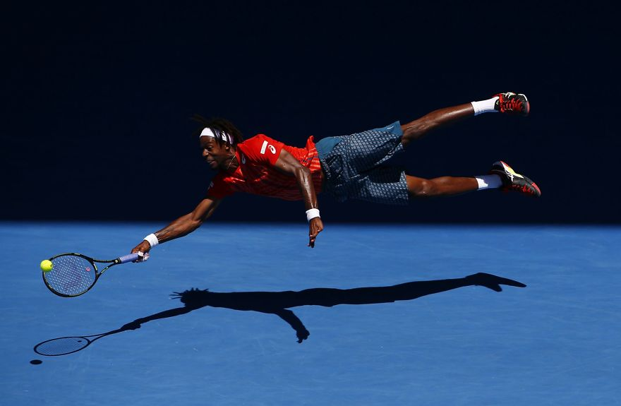 """Superman"" Monfils By Jason O'brien (2nd In Sports In Action Category)"
