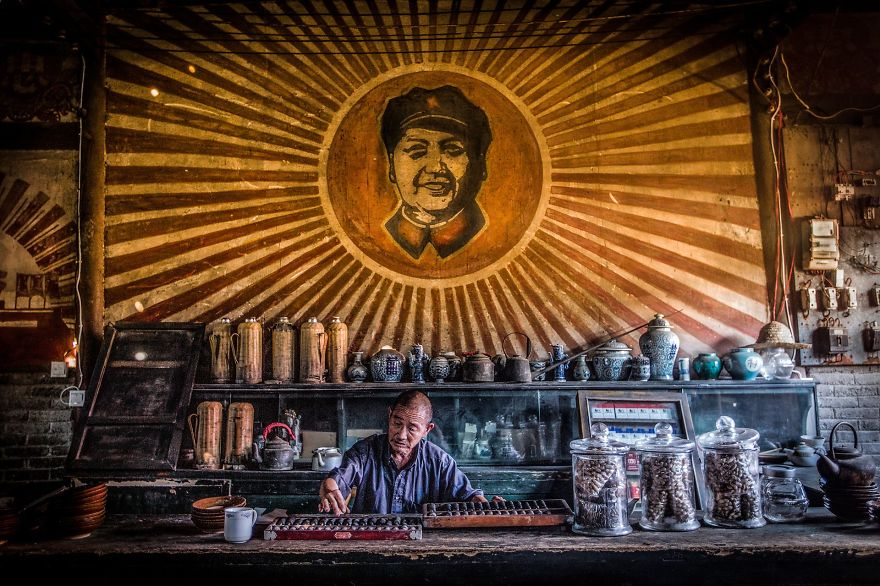 Man Running A Teahouse By Zijie Gong (1st In Student Category)