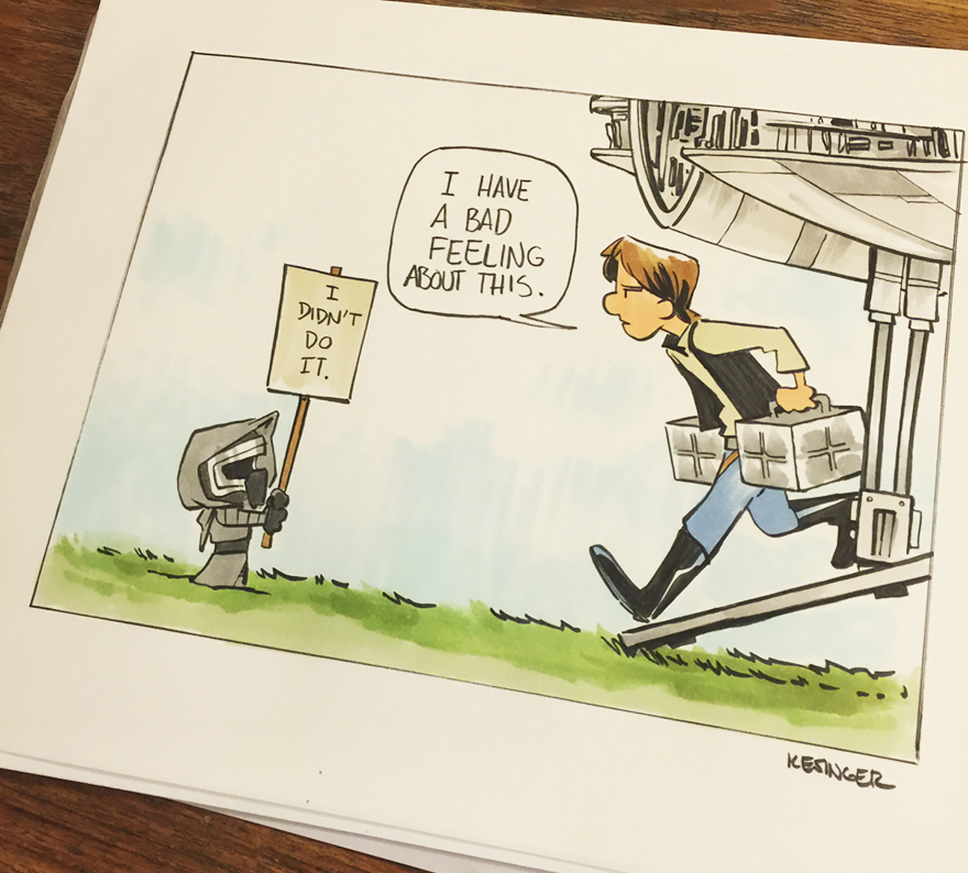 Disney Illustrator Combines Star Wars And Calvin & Hobbes, And The ...