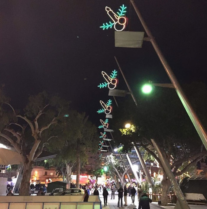 """These Christmas Street """"Candle"""" Lights"""