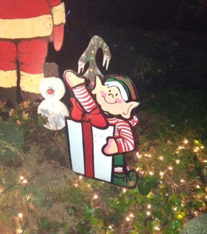 Poor Design On My Neighbor's Christmas Decoration