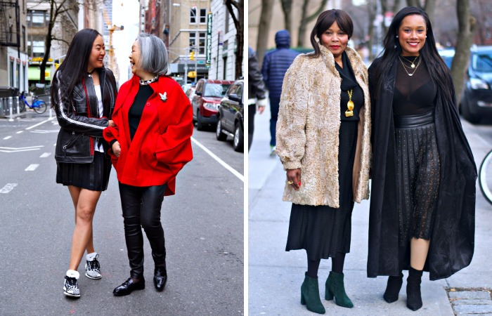 Stylish Mothers And Daughters In New York