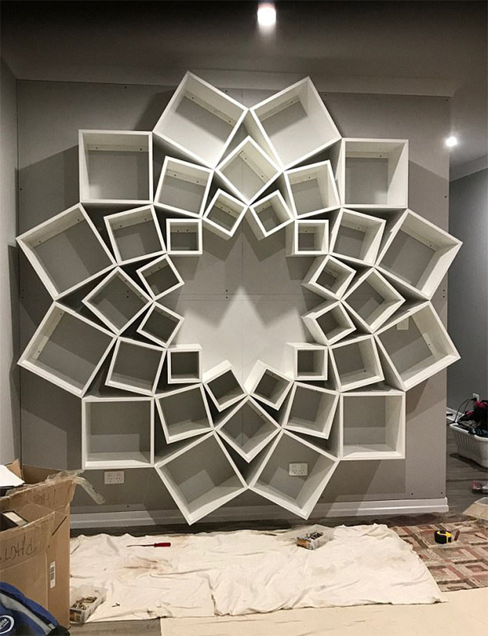 The Couple Spent 16 Hours Creating This Bookshelf Masterpiece