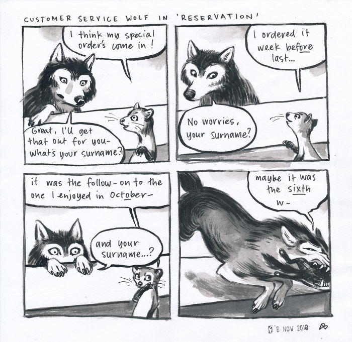 Customer Service Wolf In 'Reservation'