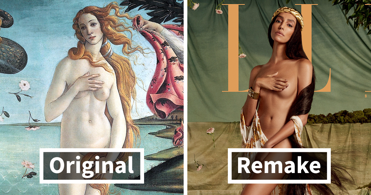 ELLE Brazil Recreates 5 Iconic Paintings With Real People, And The Results Are Impressive
