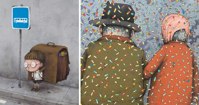 49 Controversial Illustrations By The French Banksy That Will Make You Think