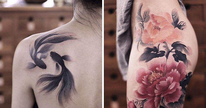 These Watercolor Tattoos By Chen Jie Will Make You Wish You Had One