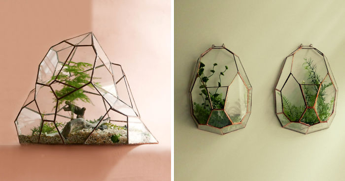 We Create Stained Glass Terrariums For Plants Bored Panda