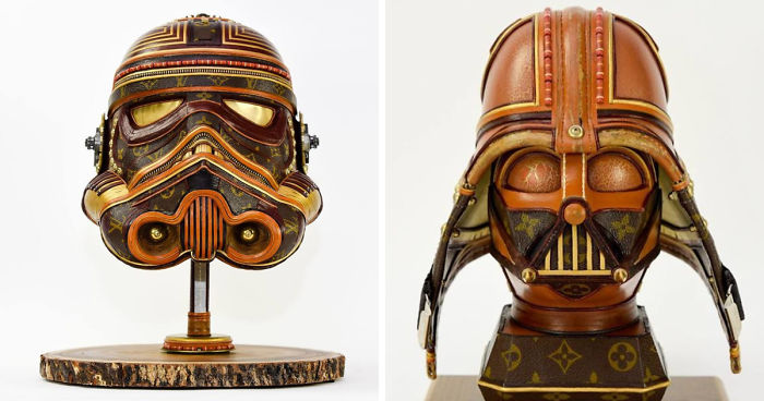 8184ab9a2691 I Upcycle Old Louis Vuitton Bags Into Star Wars Sculptures. Art ...