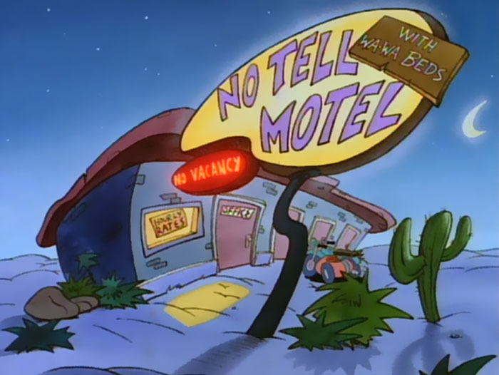 After A Tiring Day You Could Go To This Motel From Rocko's Modern Life