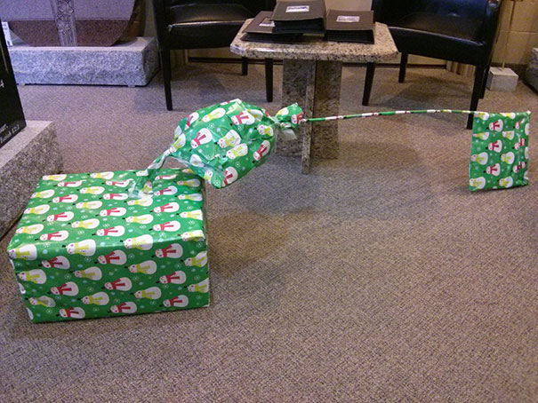 """I Present To You """"What The Hell Is That Under Our Tree?"""" Gift. It's Gonna Drive My Wife Crazy"""