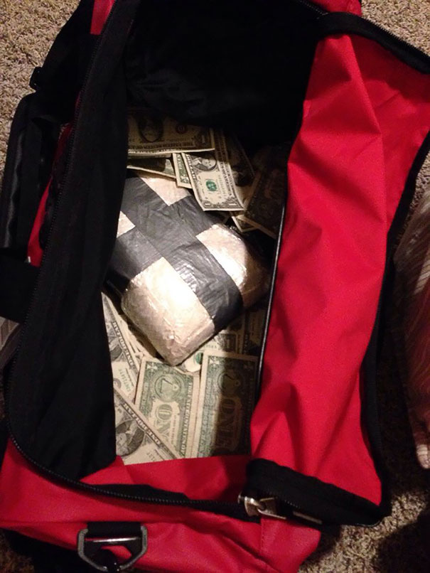 Our Son Wants A Duffel Bag For Christmas. We Decided To Give Him Cash And Chocolate Chip Cookie Ingredients As Well