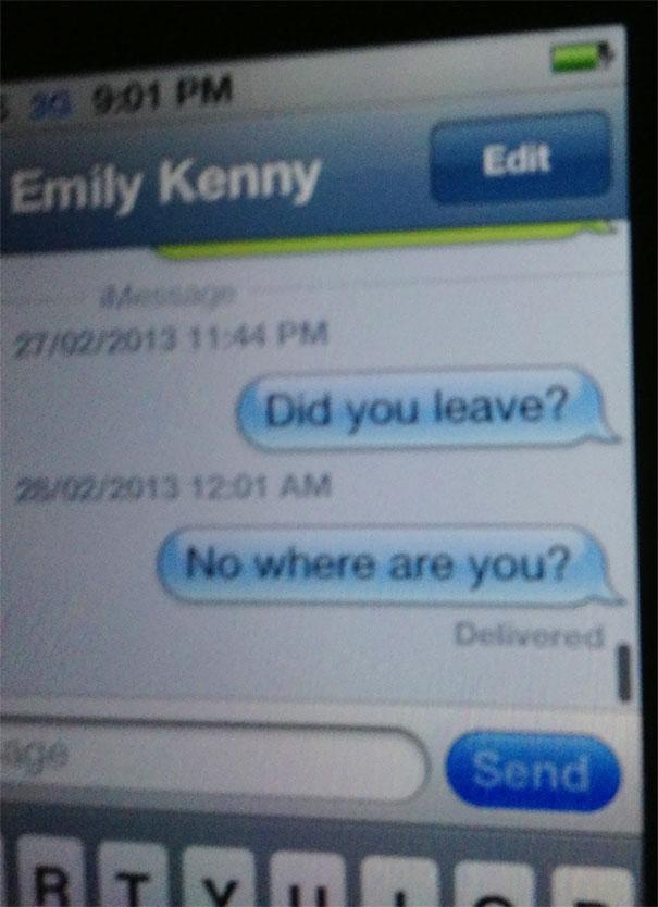 Friend So Drunk, Replied To Himself
