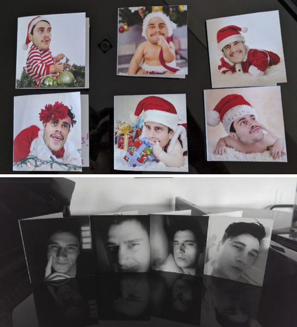 My Brother Really Outdid Himself From Last Year's (Bottom) Christmas Cards