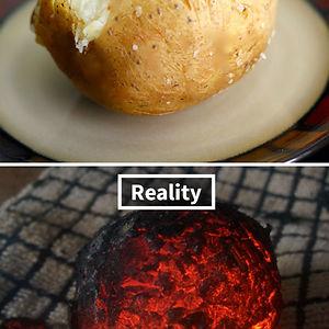 I'm No Cook But I Didn't Expect To Screw Up A Baked Potato