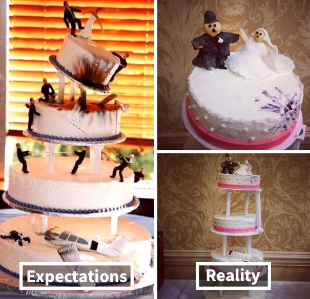 Grooms Cake Disaster, What We Wanted Vs. What We Got