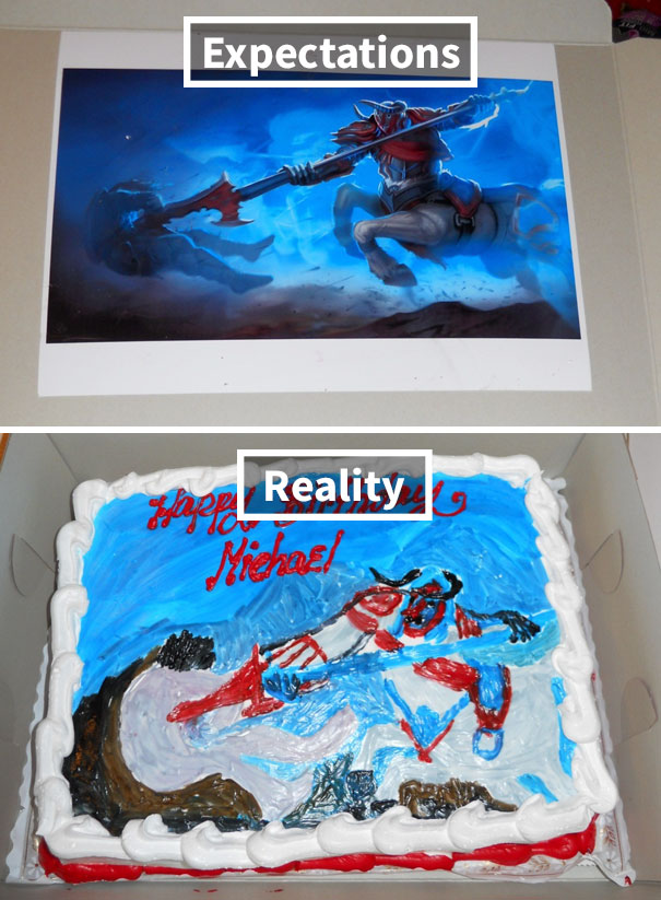 My Lol Themed Birthday Cake. The Baker Actually Thought He Could Free-Hand It