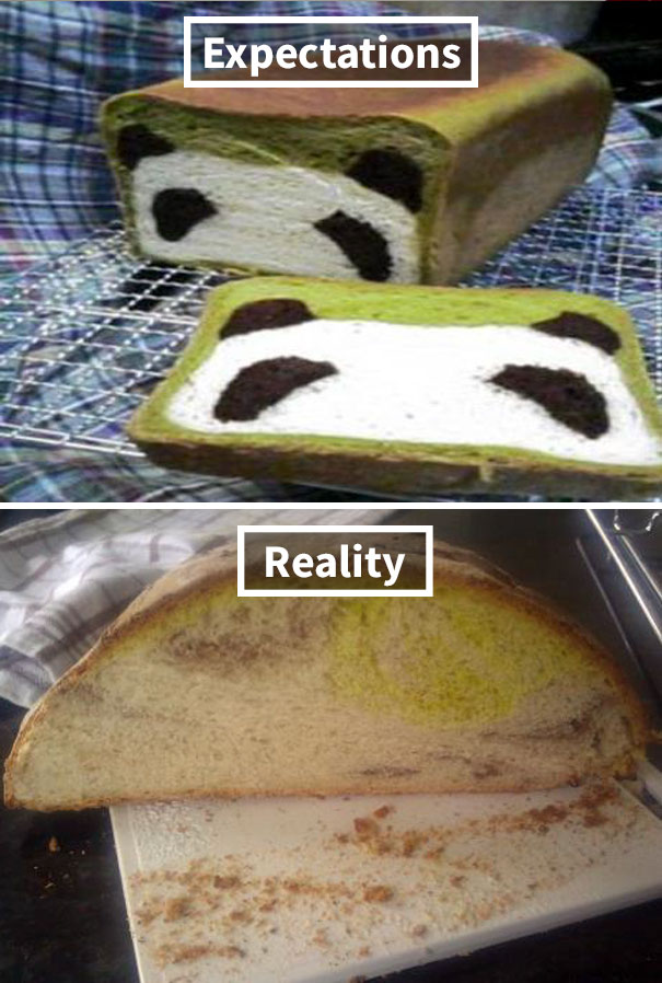 My Panda Bread Did Not Turn Out As Expected