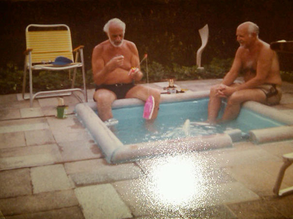 My Grandfather Used To Brag About All The Pool Parties He Went To At His Friend's Backyard Pool. Just Found An Old Photo That Revealed This Was The Pool