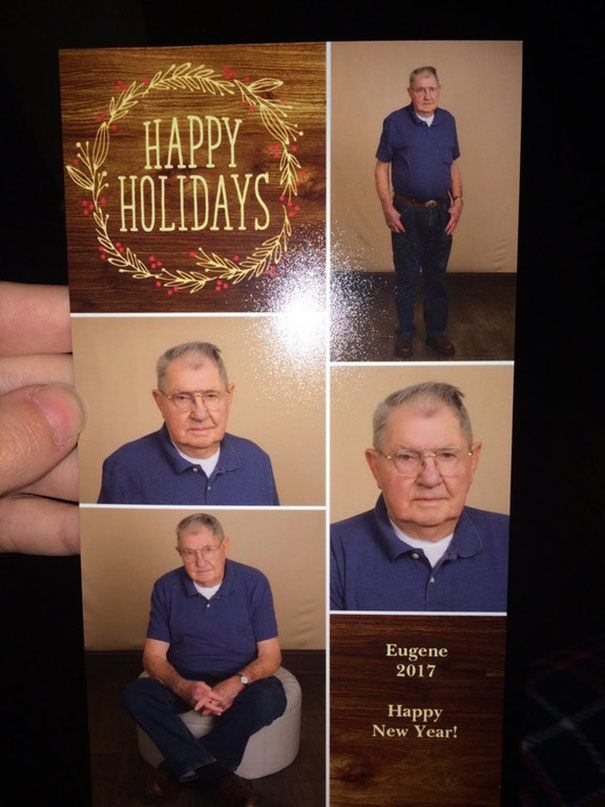 Grandpa Eugene Had Professional Pictures Taken Of Himself For His Christmas Cards