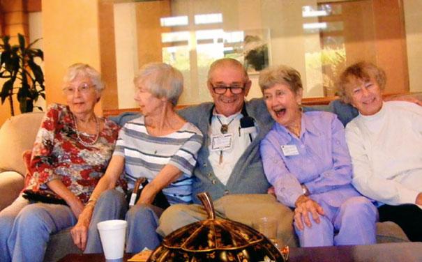 Grandpa Is Enjoying The Retirement Home