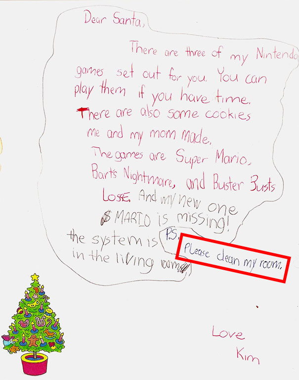 My Childhood Letter To Santa Claus