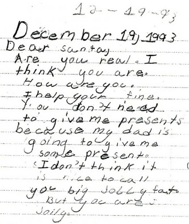 1993 Letter To Santa