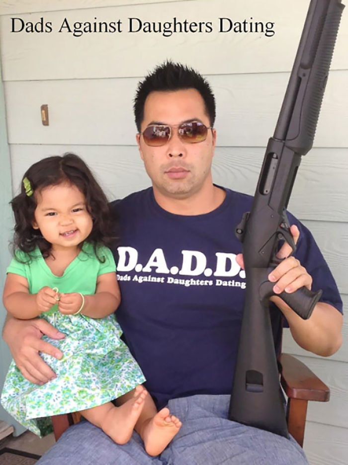Here's A Funny Picture My Friend Took With His Daughter. This Is Not A Joke, People