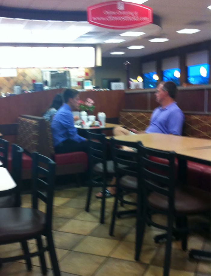 I'm At Chick-Fil-A And There's Two Kids On A Date And The Dad Is Right Next To Them Chaperoning