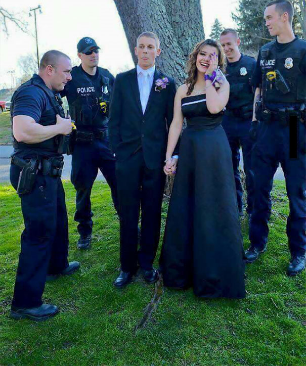 Just A Dad And His Friends Ensuring His Daughter Is Taken Care Of At Prom