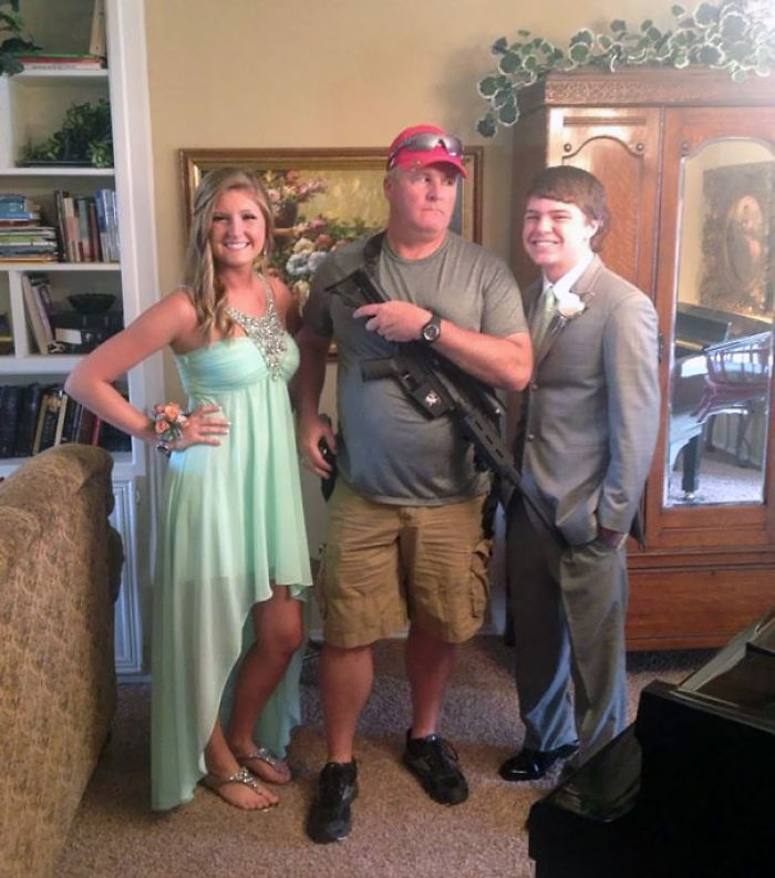 This Is My Friend And Her Boyfriend With Her Dad. He Aint No One To F*ck With On Prom