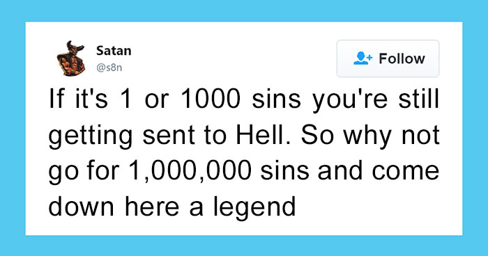 Turns Out Satan Has A Twitter Account, And It's Hilarious As Hell