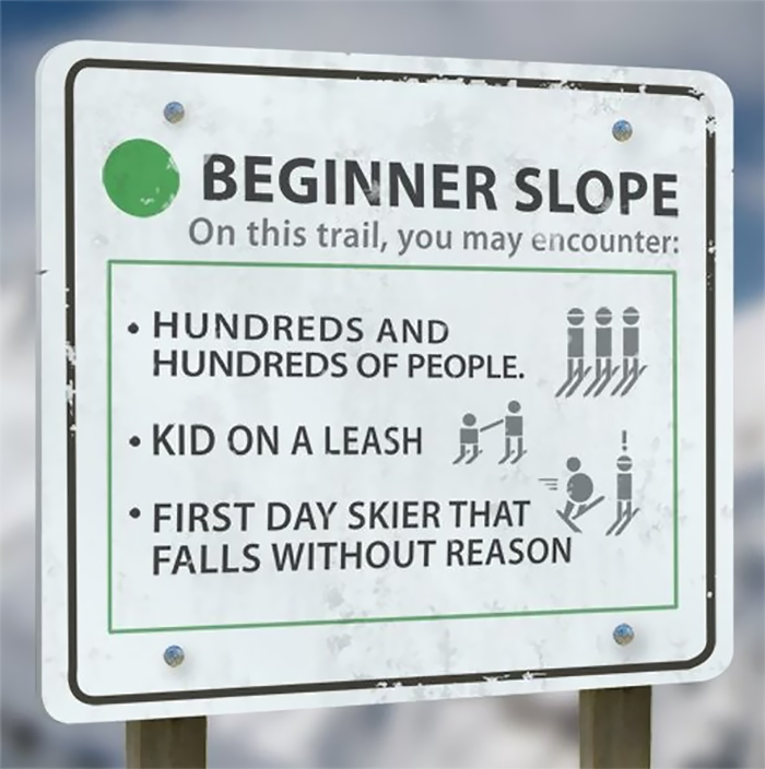 """EXTREME SKIING Street Sign 4/"""" x 18/"""""""
