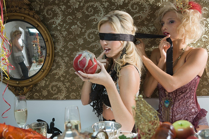 What We Need Is A Picture Of A Blindfolded Woman In Lingerie Holding A Pomegranate With A Octopus On It. Oh And Could You Set Up A Mirror In The Corner Showing Another Woman Sulking? Perfect. Thanks