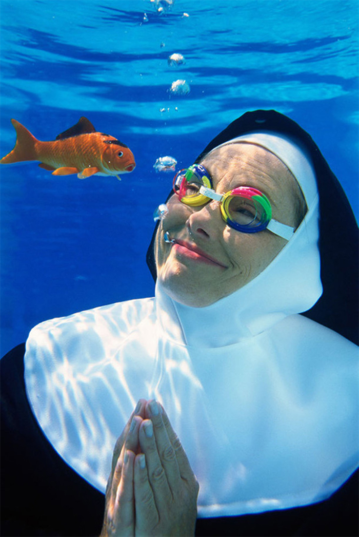 This Nun Praying To The Celestial Being Of The Seas