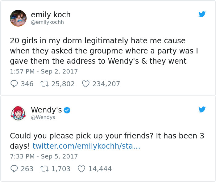 Wendy's Don't Need No Friends