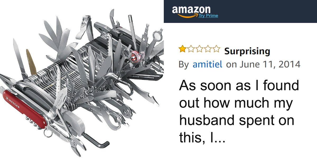 People Can't Stop Trolling This $9000 Swiss Army Knife On Amazon, And Here Are 46 Of The Funniest Reviews