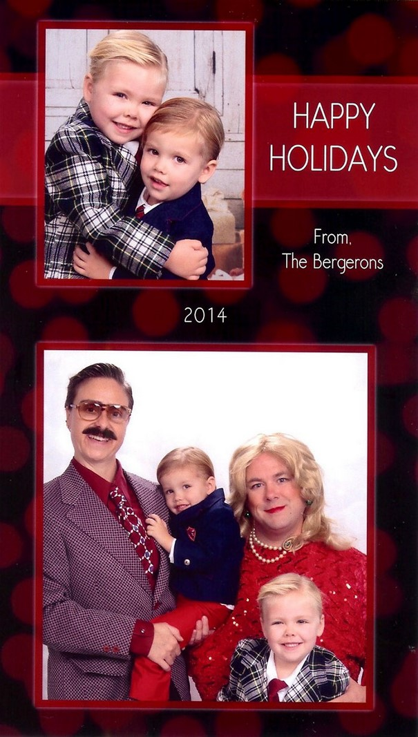 Bergeron Christmas Cards.Family Sends The Most Awkward Christmas Cards For 15 Years