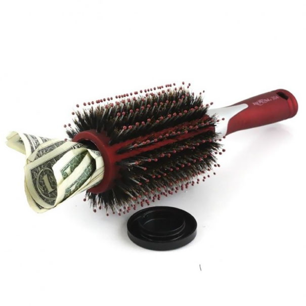 A Secret Compartment In A Hair Brush