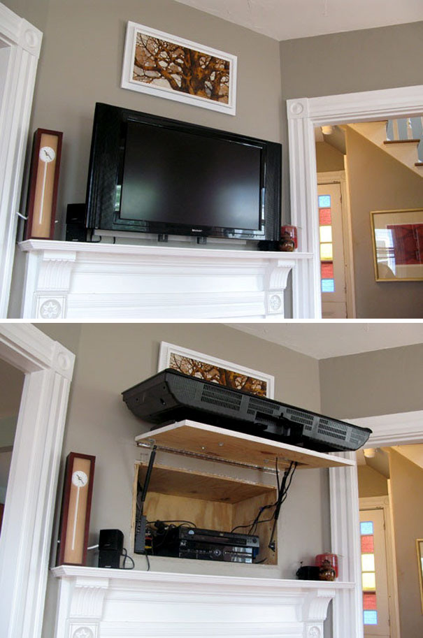Hidden Compartment Behind The Tv
