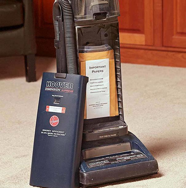 Vacuum Cleaner Bag Compartment Hideout