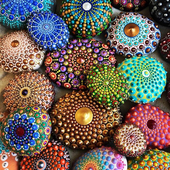 Tactile Art: I Create 3d Mandala Stones