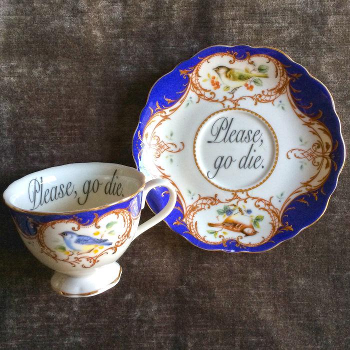 Insult-Teacups-Saucers-Melissa-Johnson