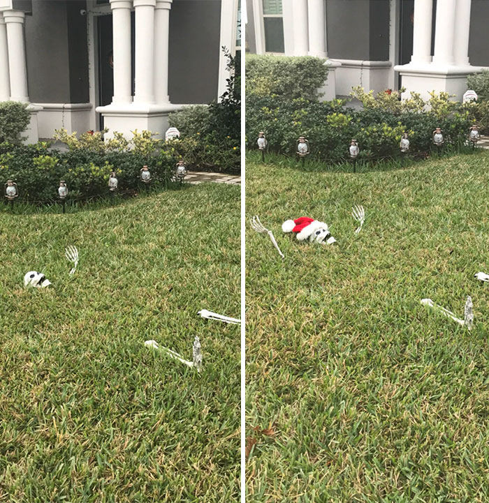 """El Día Después De Halloween: """"¡Por Fin He Terminado La Decoración De Navidad!"""