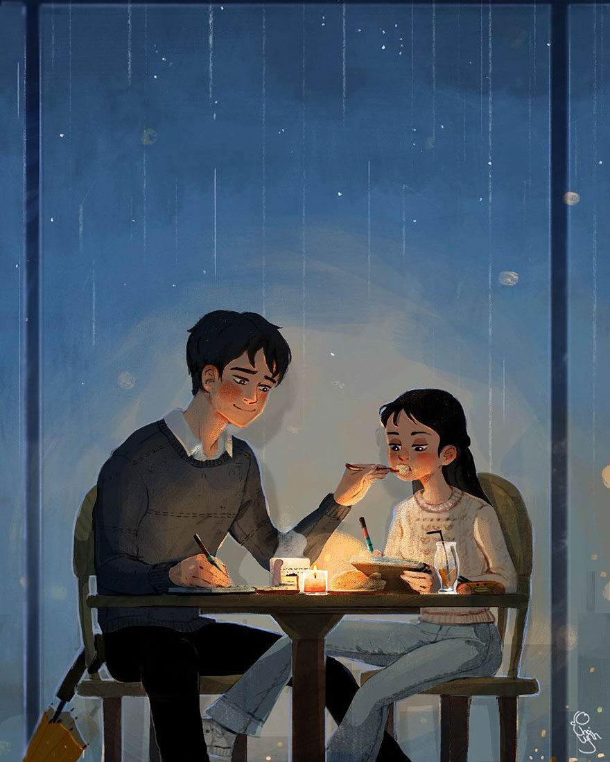 7 Sweet Illustrations Show That Love Is In The Little Things