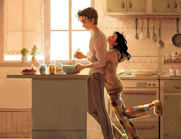 7 Tiernas ilustraciones que muestran el amor en las pequeñas cosas
