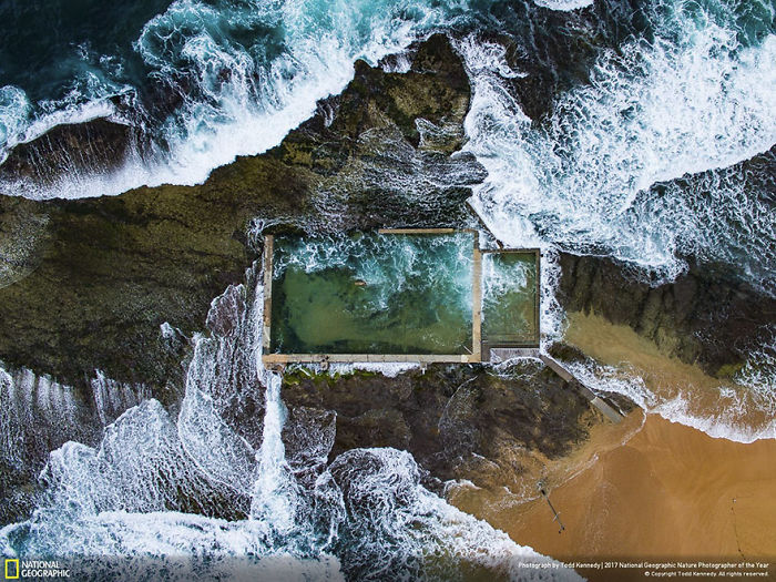 First Place Winner, Aerials: Rock Pool, Todd Kennedy