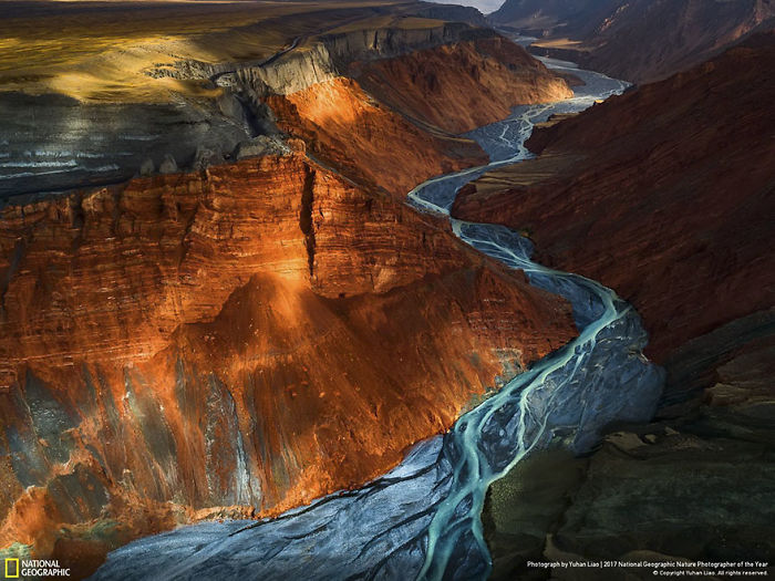 Second Place Winner, Landscapes: Dushanzi Grand Canyon, Yuhan Liao
