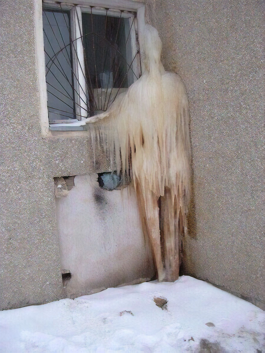It's So Cold Outside That The Ghost That Haunted The House Froze To Death